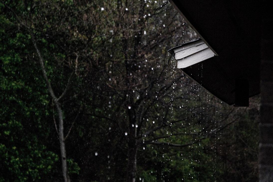 rain storm roof